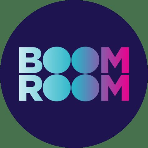 BoomRoom logo branding