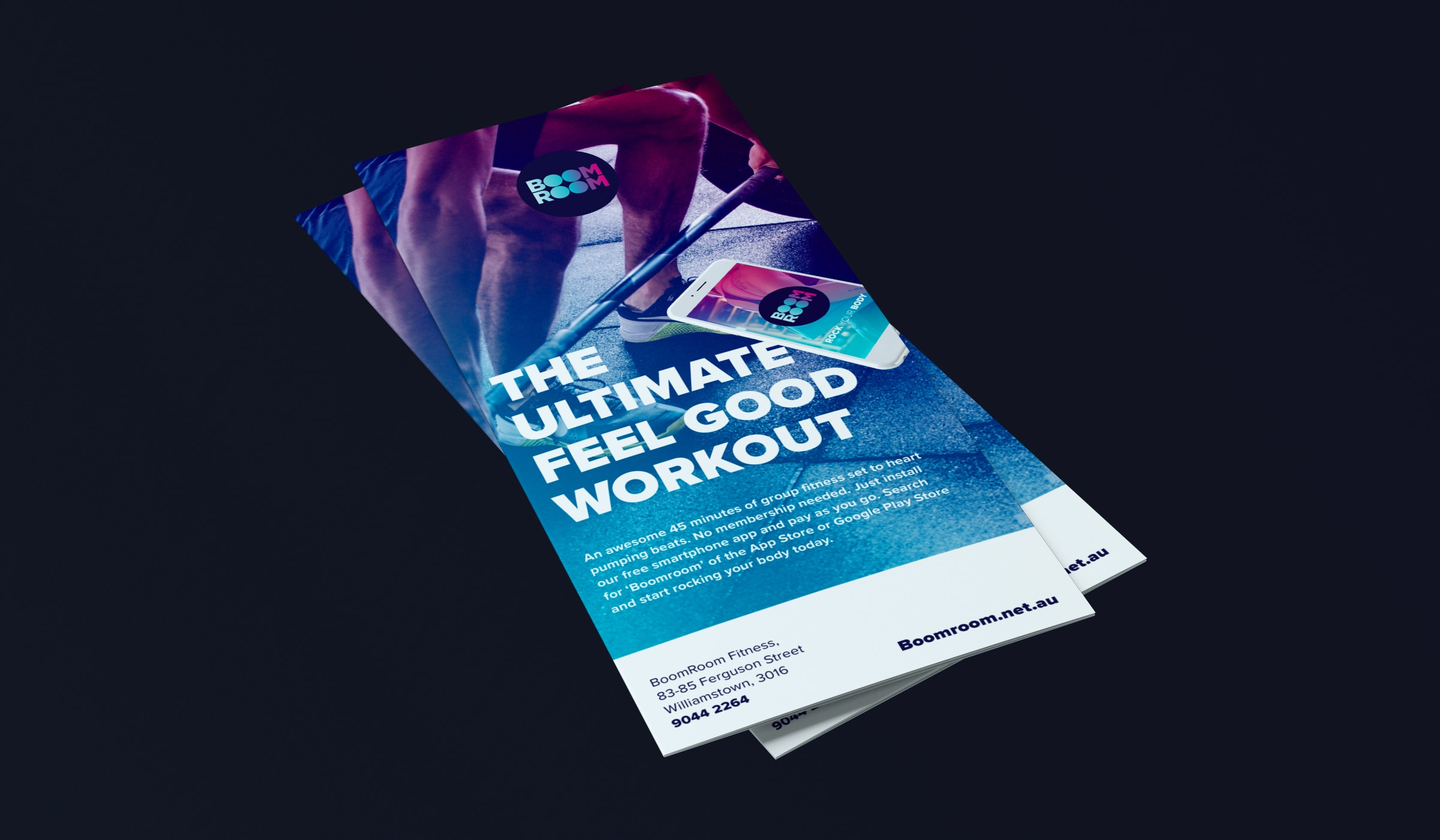 BoomRoom flyer for the ultimate workout