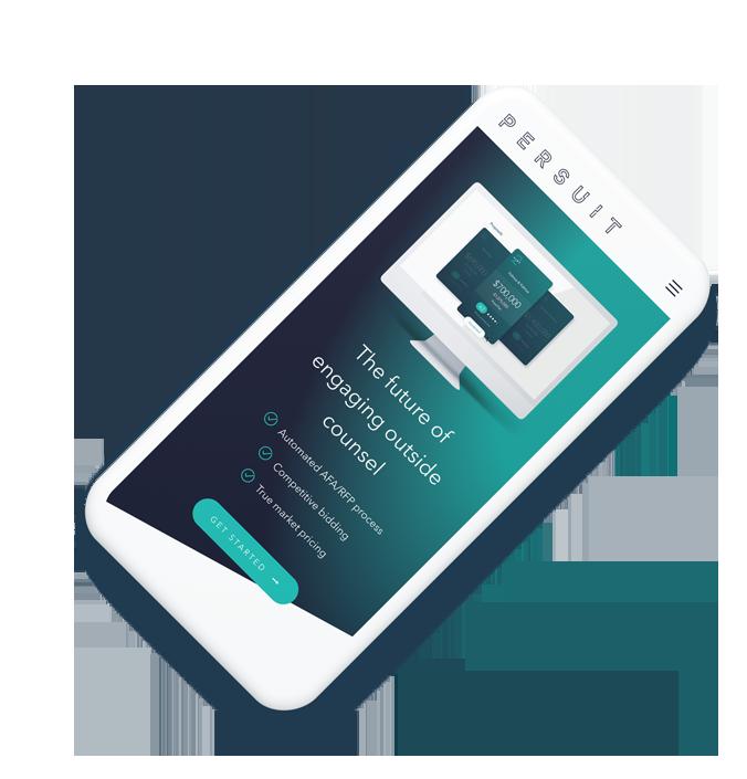 PERSUIT mobile device showing price comparison